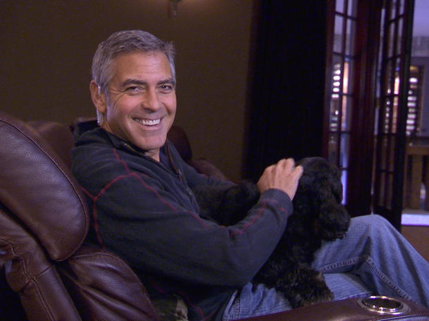 """George Clooney gives """"Person to Person"""" a tour of his L.A. home"""