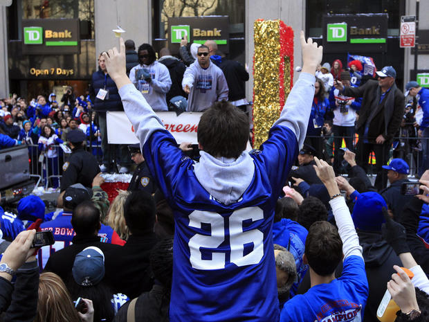 New York Giants Super Bowl parade
