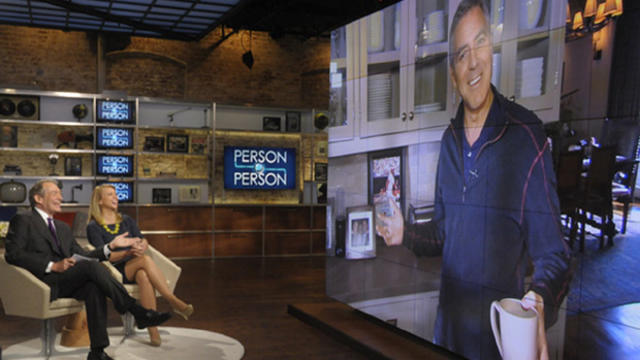 "George Clooney gives ""Person to Person"" hosts Lara Logan and Charlie Rose a tour of his L.A. home"