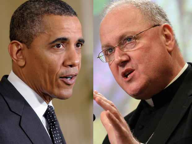 Cardinal-designate Timothy Dolan and Barack Obama