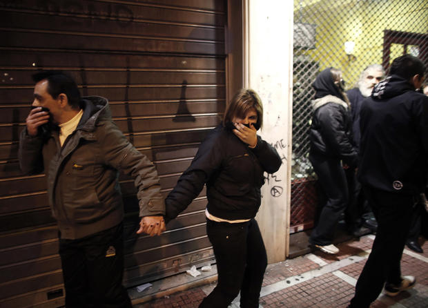 Violent protests over Greek austerity measures