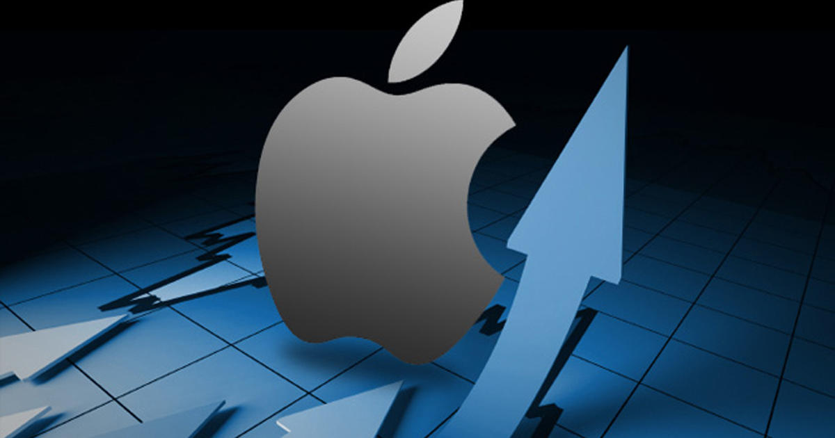 apple stock soars above 500 a share cbs news. Black Bedroom Furniture Sets. Home Design Ideas