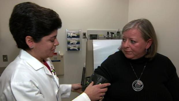 Wendy Kennedy with Dr. Joanne Foody, a cardiologist at Brigham and Women's Hospital in Boston, Massachusetts.