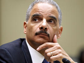 Attorney General Eric Holder testifies on Capitol Hill in Washington Feb. 2, 2012.