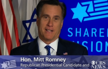 Romney addresses AIPAC from campaign trail, blasts Obama