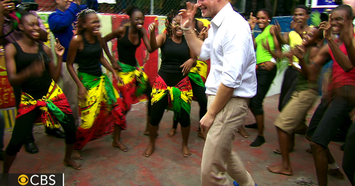 Prince Harry Puts On Dancing Shoes In Jamaica Cbs News