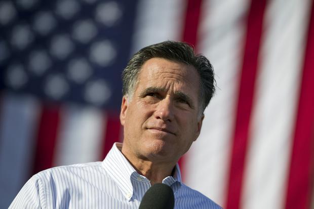 Mitt Romney speaks during a Missouri campaign stop