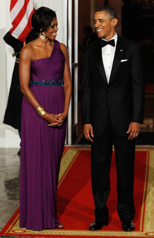 Michelle Obama's state dinner style