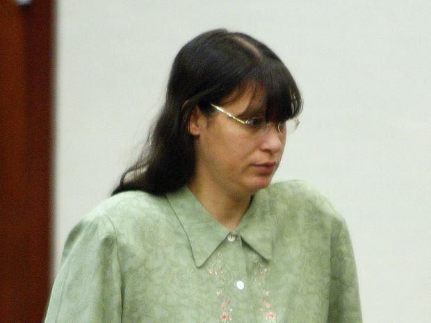 Andrea Yates arrives in court for closing arguments in her retrial