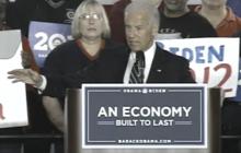 Biden takes on Romney, Santorum & Gingrich