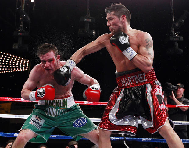 Sergio Martinez throws a punch during the 11th round