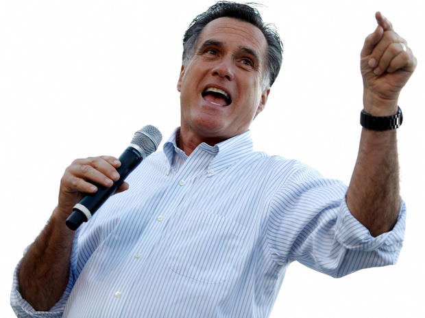 Former Massachusetts Gov. Mitt Romney holds a town-hall campaign meeting on the campus of Bradley University March 19, 2012, in Peoria, Ill.