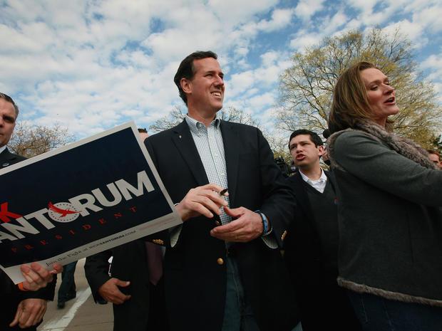 "Santorum blames waning support on the ""machine"""
