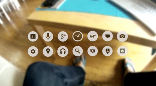 "Google's futuristic ""Project Glass"" eye wear"