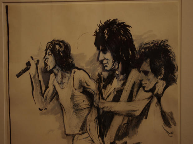 "Ronnie Wood's ""Faces, Time and Places"" art exhibition"