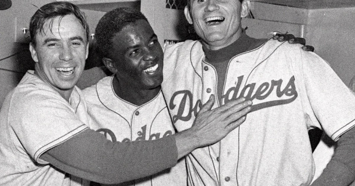 1096580b5 Reese, Stanky, Jorgensen - Jackie Robinson broke baseball's color barrier -  Pictures - CBS News