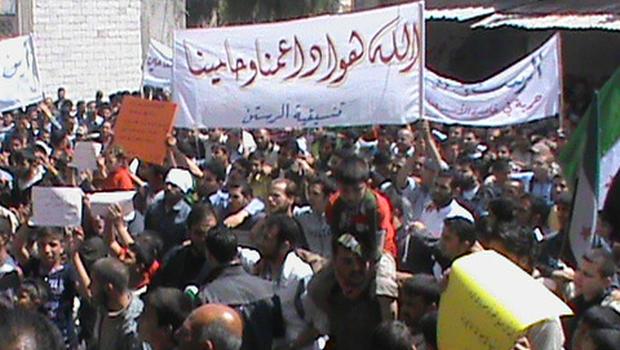 syria, rastan, protests