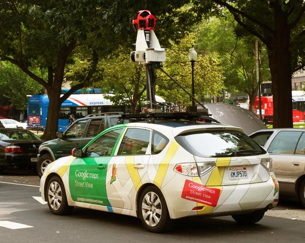 The Google street view mapping and camera car is seen as it charts the streets of Washington, DC, on June 7, 2011