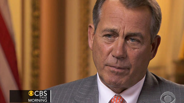 The Speaker of the House, Rep. John Boehner, R-Ohio, is seen in an interview with Charlie Rose, April 17, 2012.