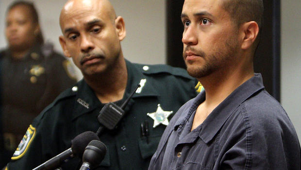George Zimmerman, right, appears for a bond hearing at the John E. Polk Correctional Facility April 12, 2012, in Sanford, Fla.
