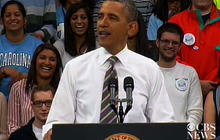 "Obama to college students: ""We've been in your shoes"""