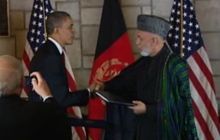 Obama, Karzai sign accord on U.S. role in Afghanistan