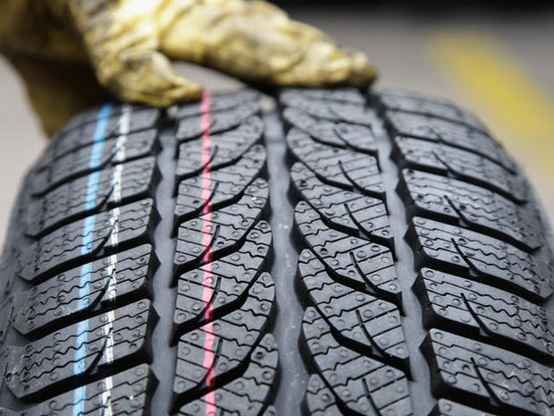 BERLIN - OCTOBER 07: The profile of a snow tire is pictured at a tire dealer on October 7, 2010 in Berlin, Germany. German drivers will be forced to make sure they have proper tyres for driving in mud and snow this winter after Transport Minister Peter Ramsauer announced a safety crackdown on Wednesday. (Photo by Andreas Rentz/Getty Images)