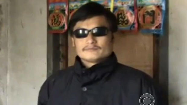 Chen Guangcheng, US and China flags
