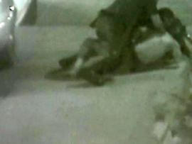 Graphic video of officers beating homeless man shown in Calif. court