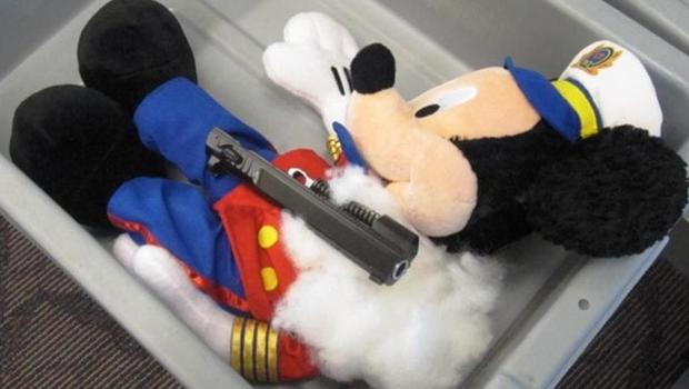 One of the stuffed animals the TSA says contained hidden gun parts