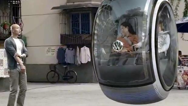 video  volkswagen concept hover car cbs news