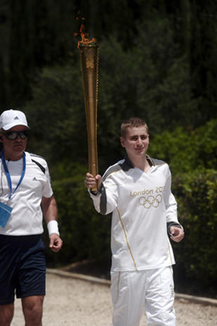 Olympic torch is lit