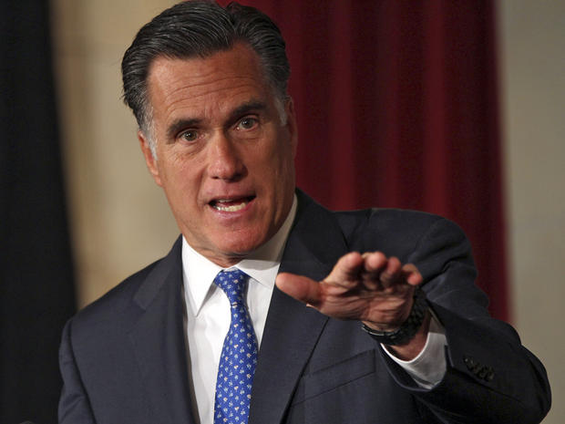 Mitt Romney addresses the Latino Coalition's 2012