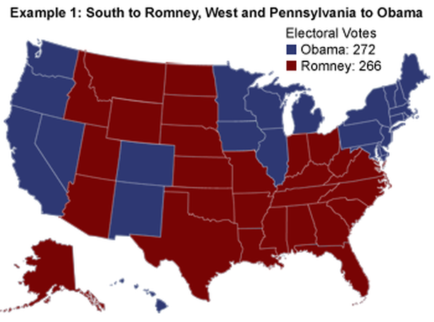 The Electoral College map: How Obama or Romney could win - CBS News