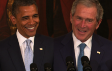 Obama thanks Bush for leaving TV sports package at WH