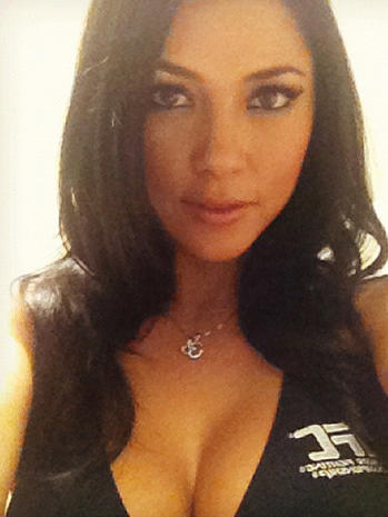 UFC ring girl arrested for domestic scuffle