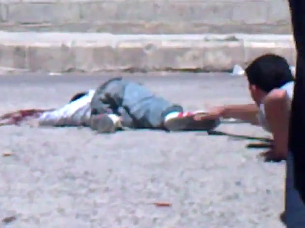 Alleged sniper shooting of young boy in Daraa