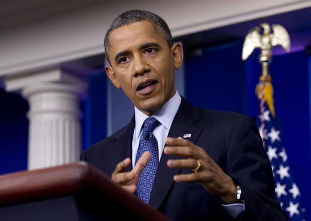 President Barack Obama talks about the economy