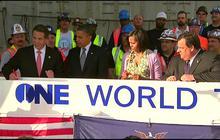 Obama, Christie sign WTC beam