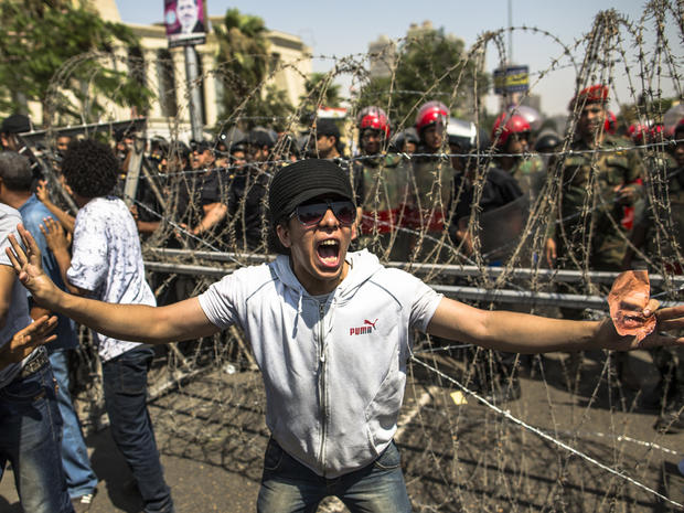Egyptians protest against presidential candidate Ahmed Shafiq