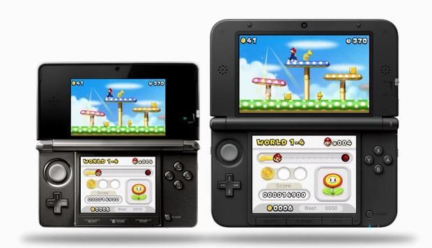 Nintendo's new 3DS XL, alongside the 3DS.