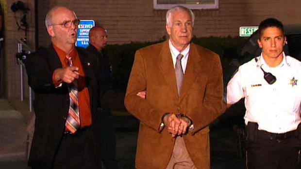 Courtroom scene as Sandusky was read guilty verdicts