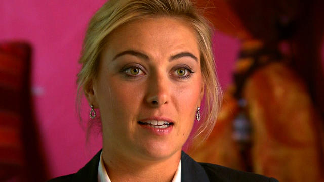 """Maria Sharapova during """"CBS This Morning"""" interview with Mark Phillips"""