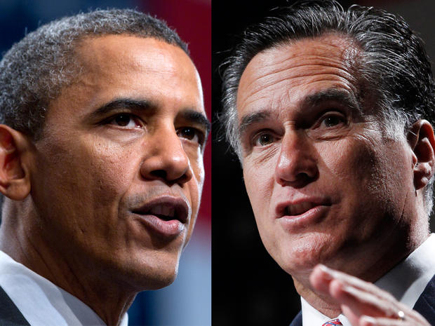 President Barack Obama and Mitt Romney