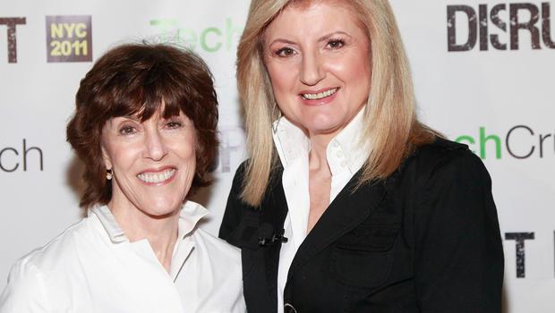 Nora Ephron and Arianna Huffington