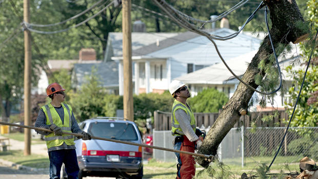 heat wave, hot, temperature, weather, maryland, power, outage, lines