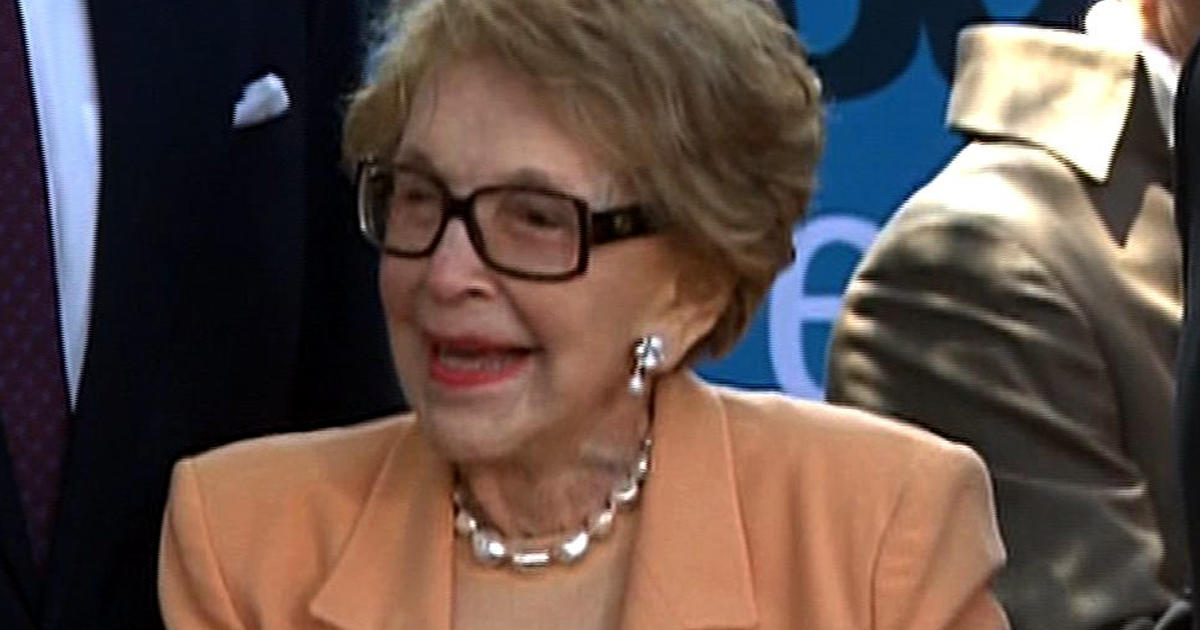 Nancy Reagan, now 91, still first lady of GOP - CBS News