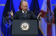 Biden booed at NAACP... for wrapping up speech