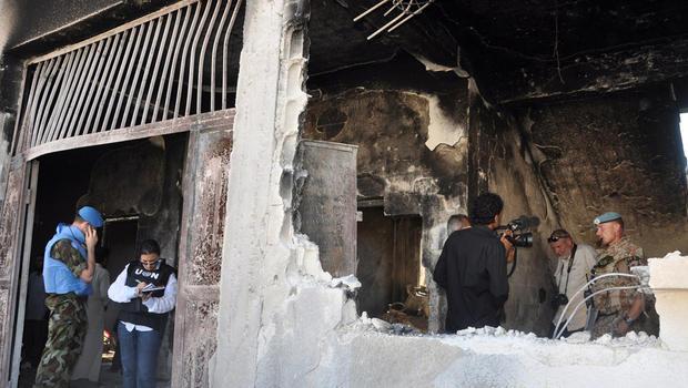 Syria, Tremseh, observers