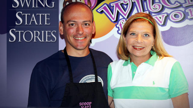 """John Biondi and Lisa Ragazzini, owners of """"Witch Flavor?"""" ice cream shop in Beaver, Pennsylvania."""